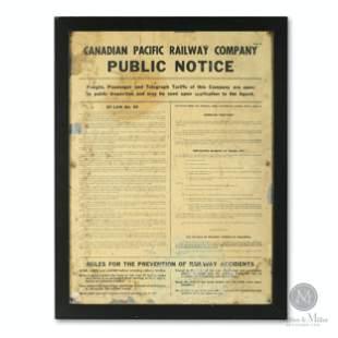 CPR Celluloid Public Notice Bulletin