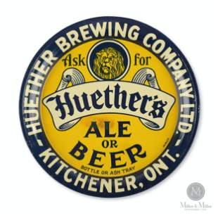 Huether Brewery Tin Litho Tip Tray