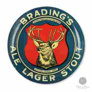Bradings Ale Tin Litho Tip Tray