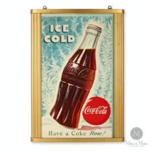 1951 Coca-Cola Cardboard Poster