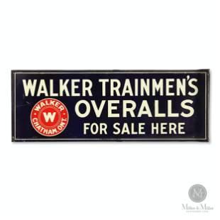 Walker Trainmen's Overalls Flange Sign
