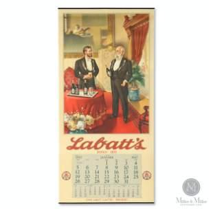 """1947 Labatt's """"Two Gentlemen"""" Calendar"""