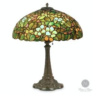 Duffner & Kimberly, Leaded Glass Table Lamp