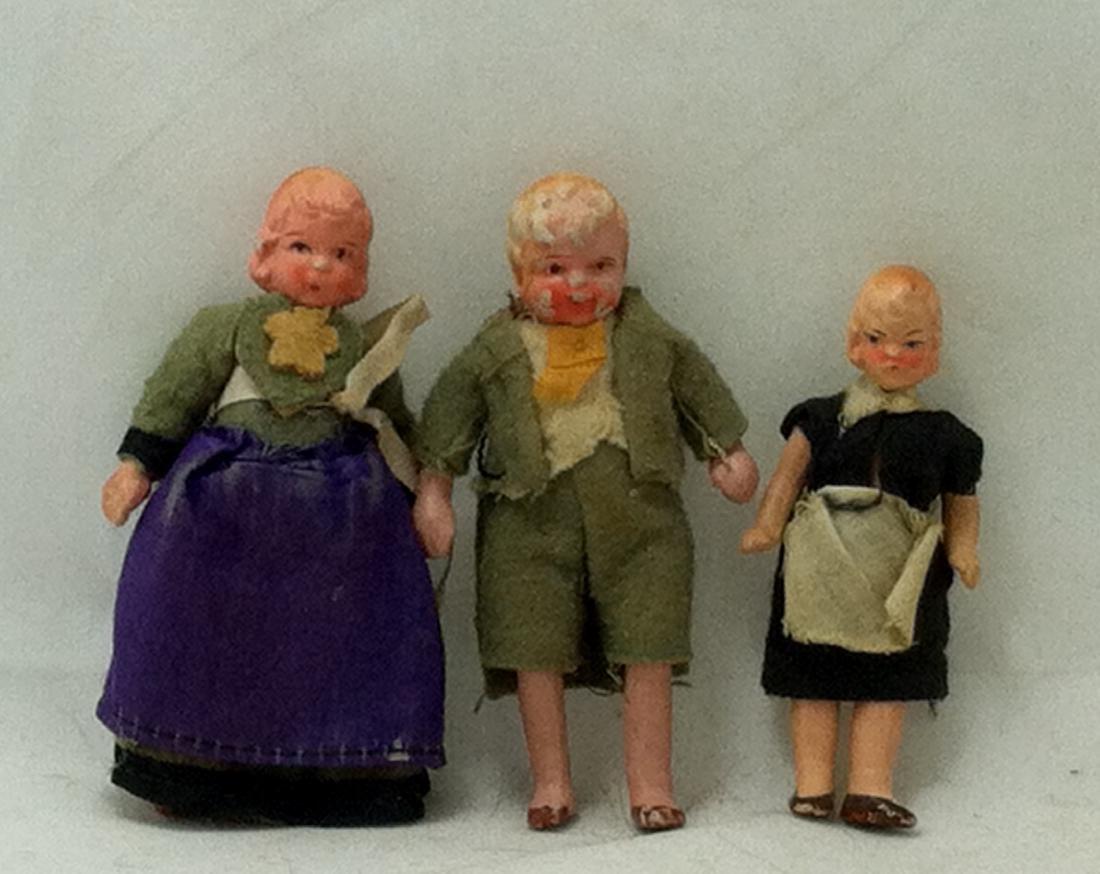 3pc. Lot 1 Boy & 2 Girls 1930's - 2