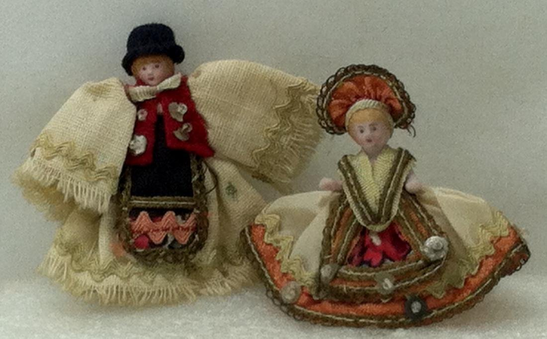 Pr. Bisque Hungarian Costume Dolls - 2