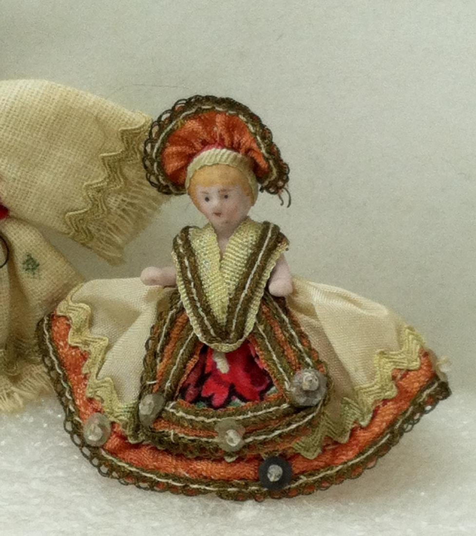 Pr. Bisque Hungarian Costume Dolls - 5