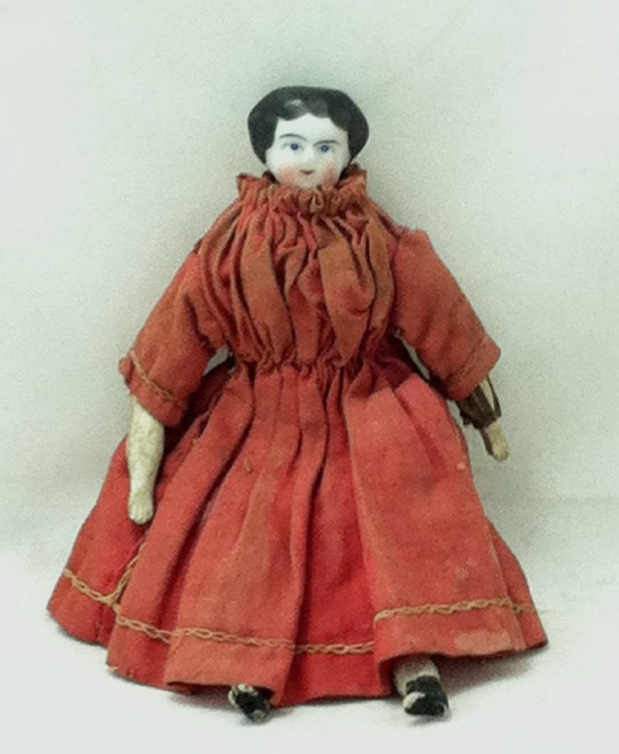 Hand Painted China Head Doll - 5