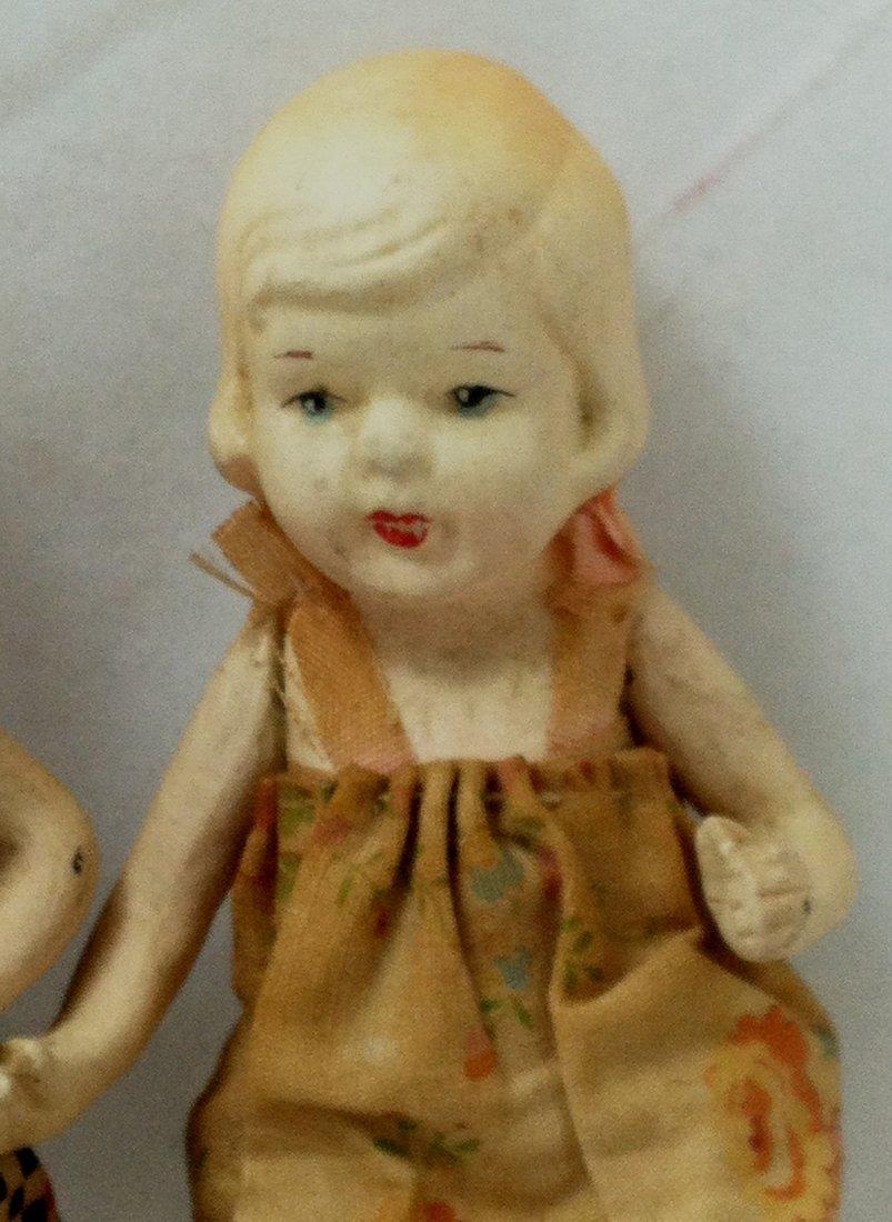 Pr 1930's Bisque Girl Twins - 4