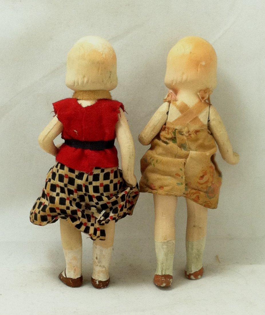 Pr 1930's Bisque Girl Twins - 5