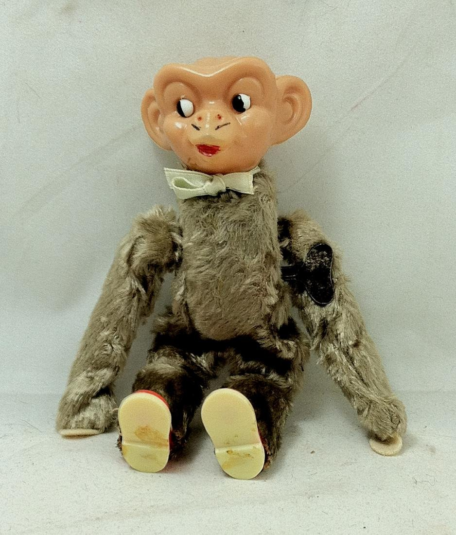 Vintage WindUp Celluloid Flipper Monkey