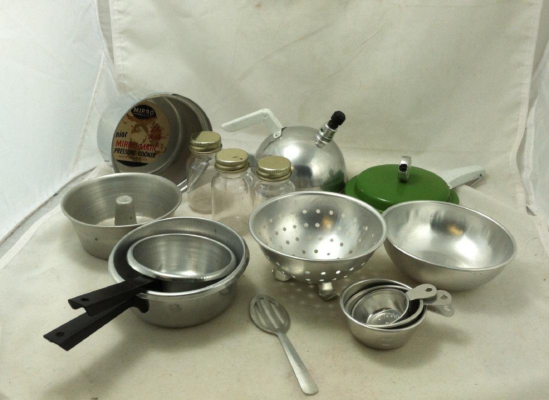 "10 Pc Lot Mini ""Mirro Jr.""Cooking Set"