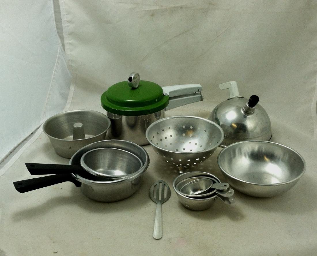 "10 Pc Lot Mini ""Mirro Jr.""Cooking Set - 4"