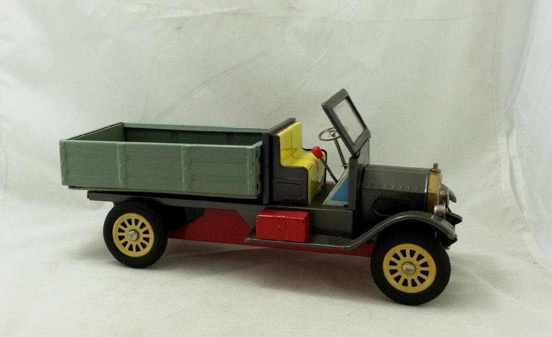 Vtg Big Metal Friction Open Bed Truck Japan - 4