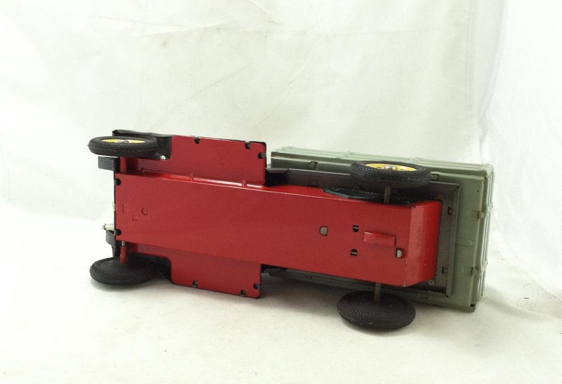 Vtg Big Metal Friction Open Bed Truck Japan - 6