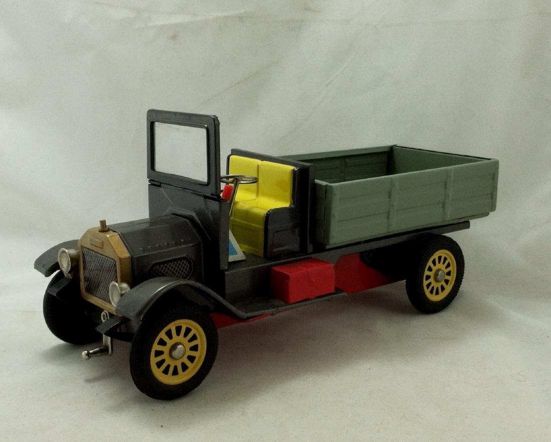 Vtg Big Metal Friction Open Bed Truck Japan - 7