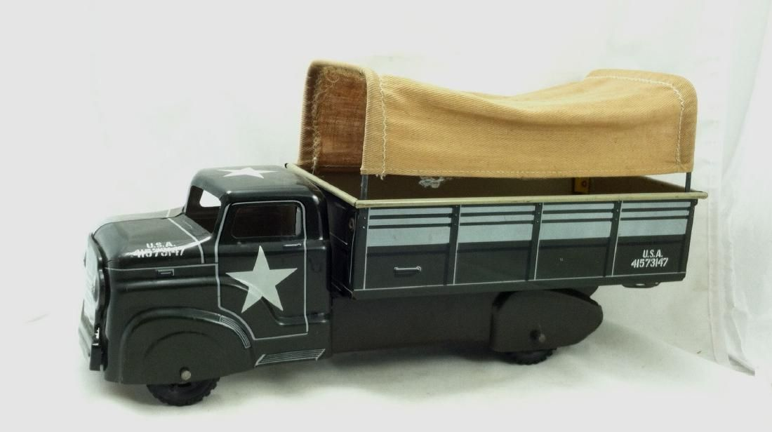 Vtg. Army Transport Truck by Marx A Good One