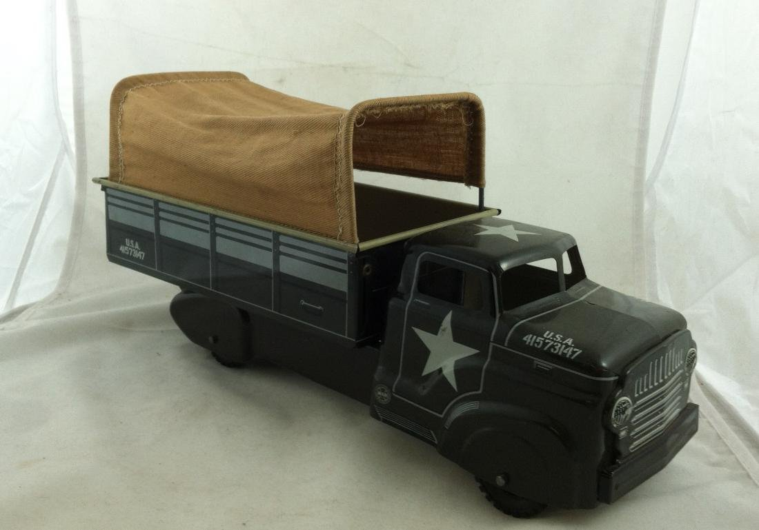 Vtg. Army Transport Truck by Marx A Good One - 3