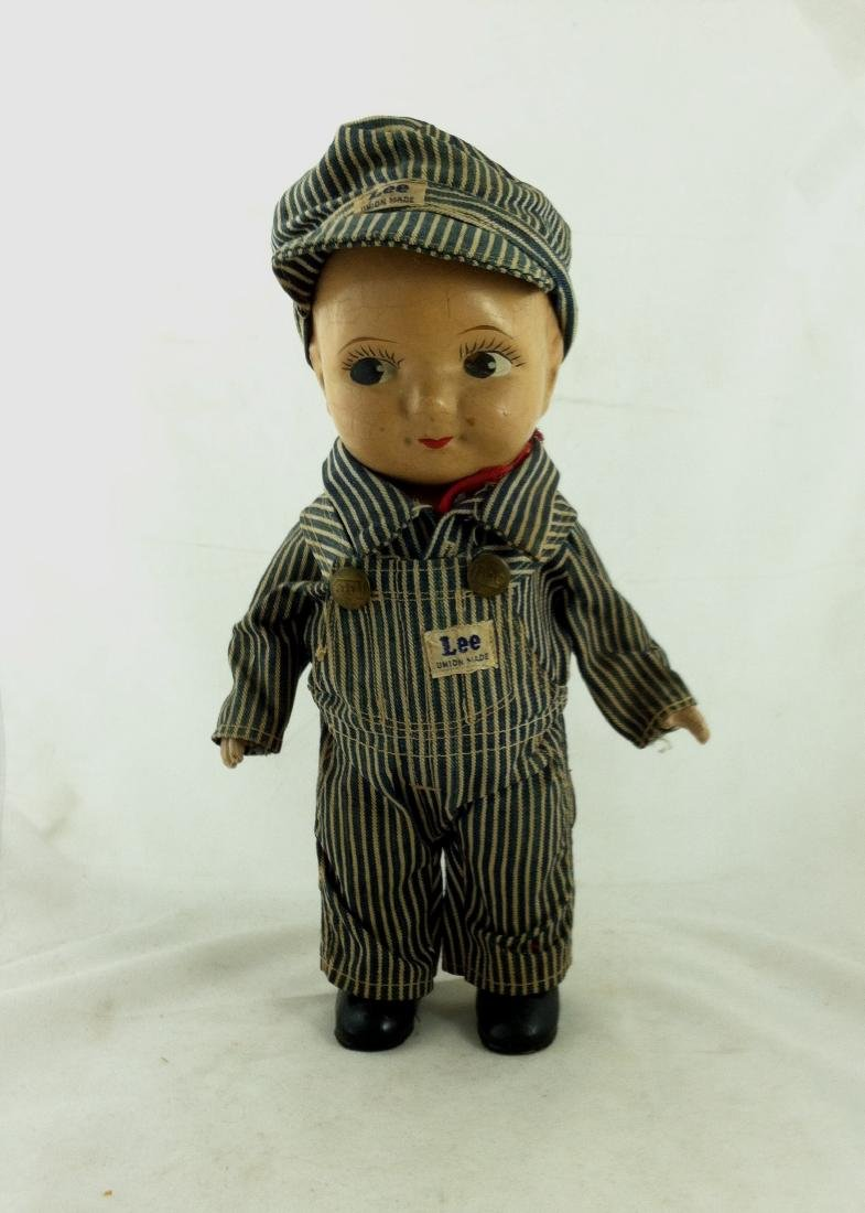 Buddy Lee All Compo Doll w/ Overalls & Hat