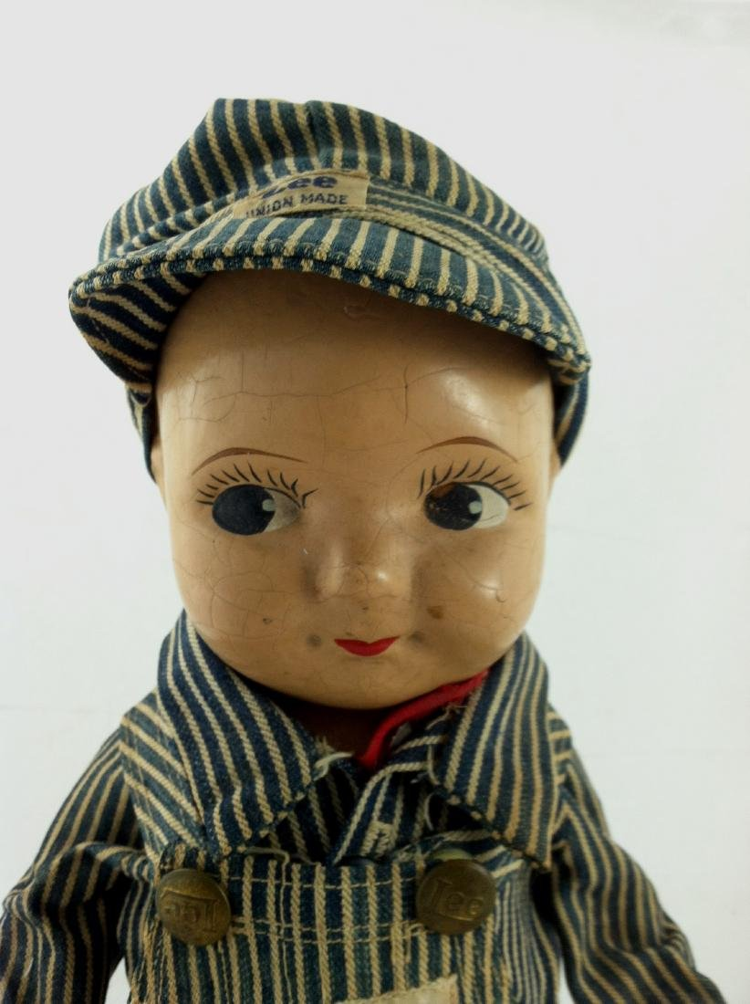 Buddy Lee All Compo Doll w/ Overalls & Hat - 2