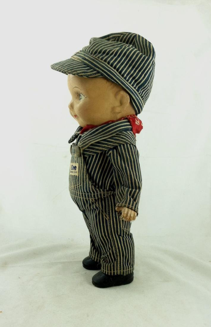 Buddy Lee All Compo Doll w/ Overalls & Hat - 3