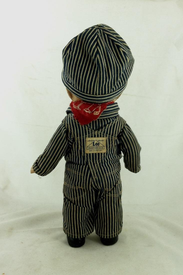 Buddy Lee All Compo Doll w/ Overalls & Hat - 4