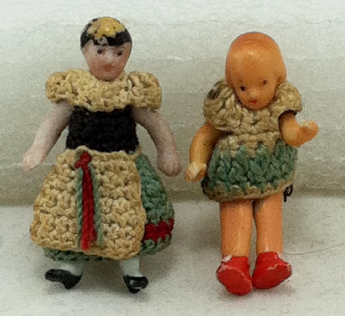 """2 Real Little Bisque Dolls @ 1 3/8""""h."""
