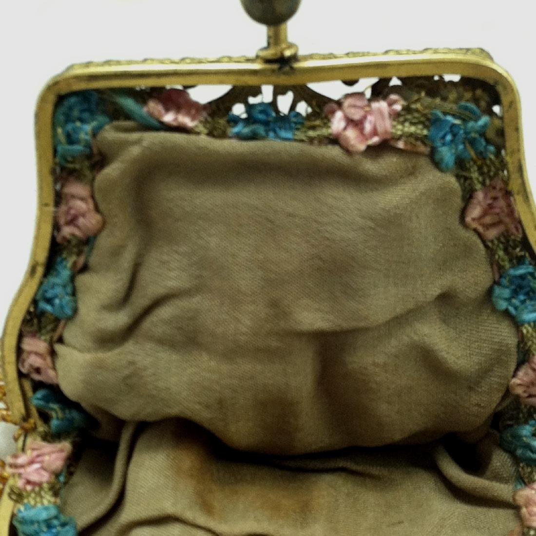 Victorian All Gold Iridescent Beaded Dolls Hand Bag - 5
