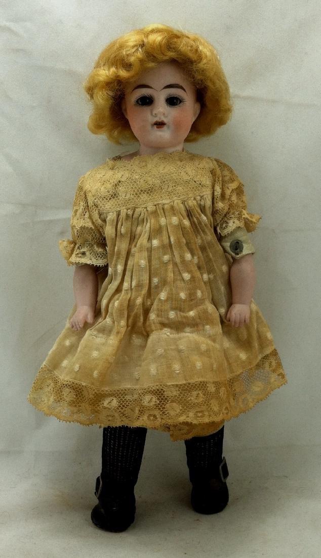 Antique Bisque Head/Kid Body Doll ' Almy '