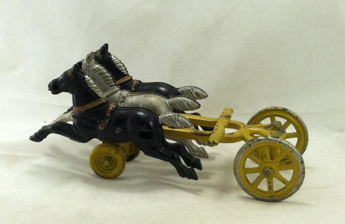 Cast Iron 3 Horse Team Kenton 1920's - 10