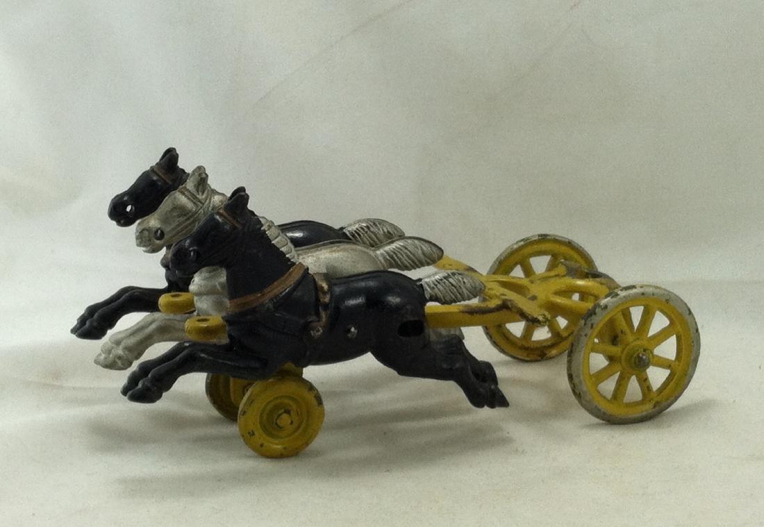 Cast Iron 3 Horse Team Kenton 1920's