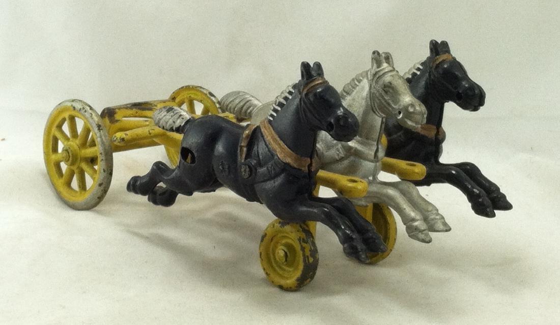 Cast Iron 3 Horse Team Kenton 1920's - 3