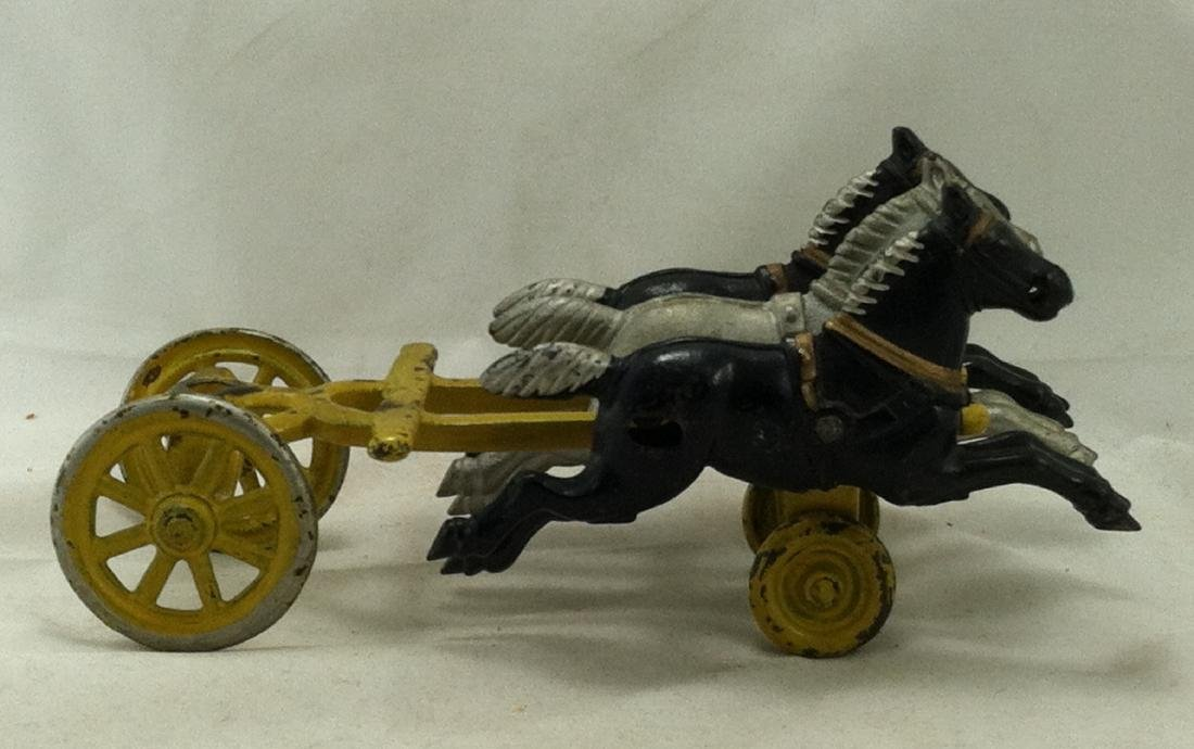 Cast Iron 3 Horse Team Kenton 1920's - 4