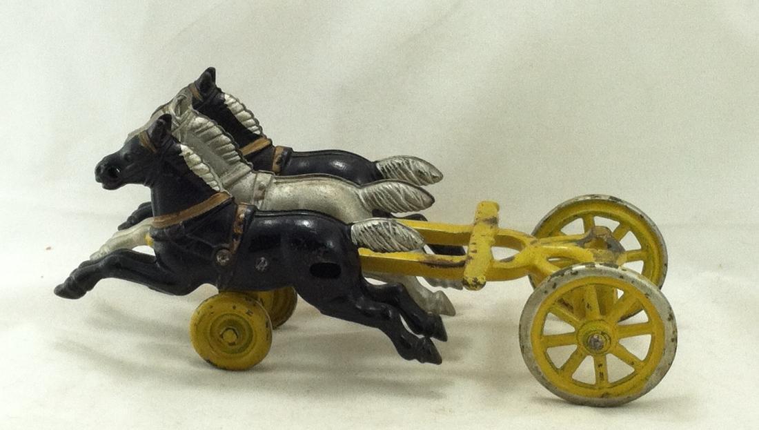 Cast Iron 3 Horse Team Kenton 1920's - 8
