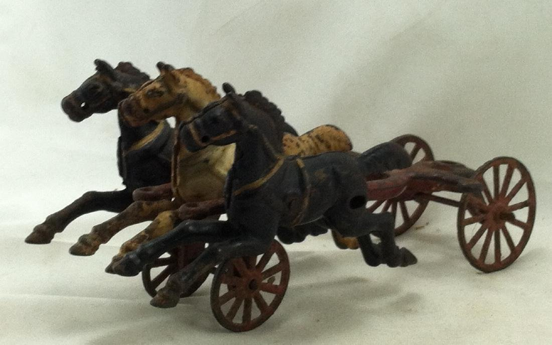 Cast Iron 3 Horse Team 20's Hubley As-Is