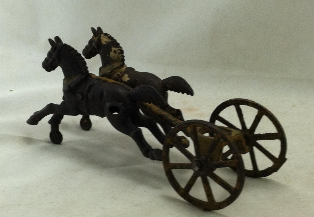 Hubley Cast Iron 6 pc. Horse Lot: - 4