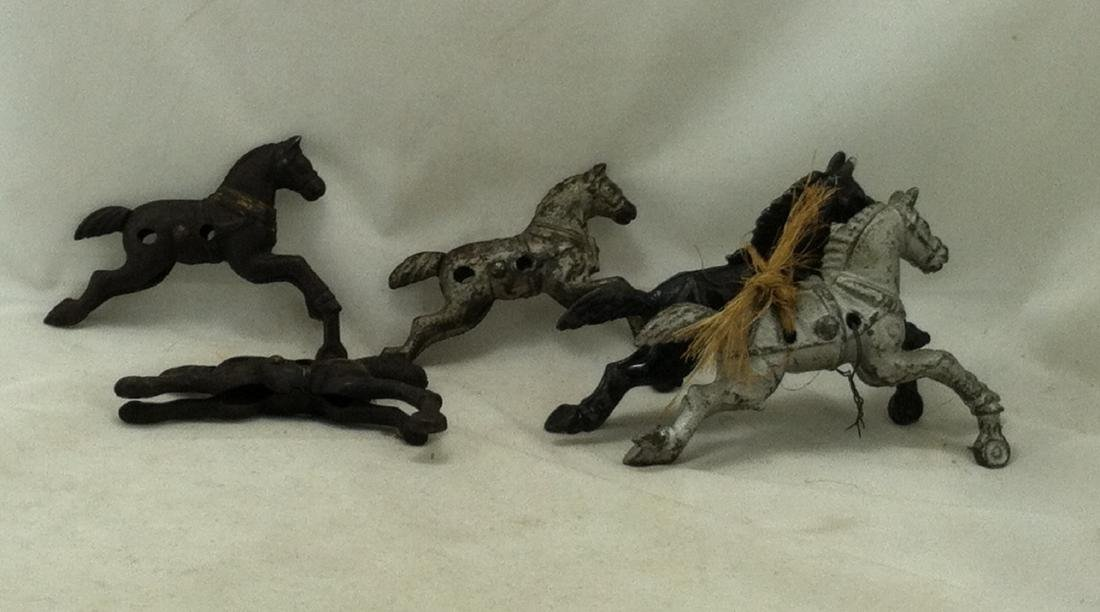 Hubley Cast Iron 6 pc. Horse Lot: - 6