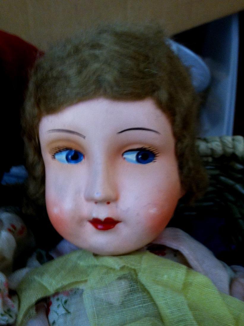 """Pr. Twin Sister Dolls 17.5"""" tall. 1930's - 4"""