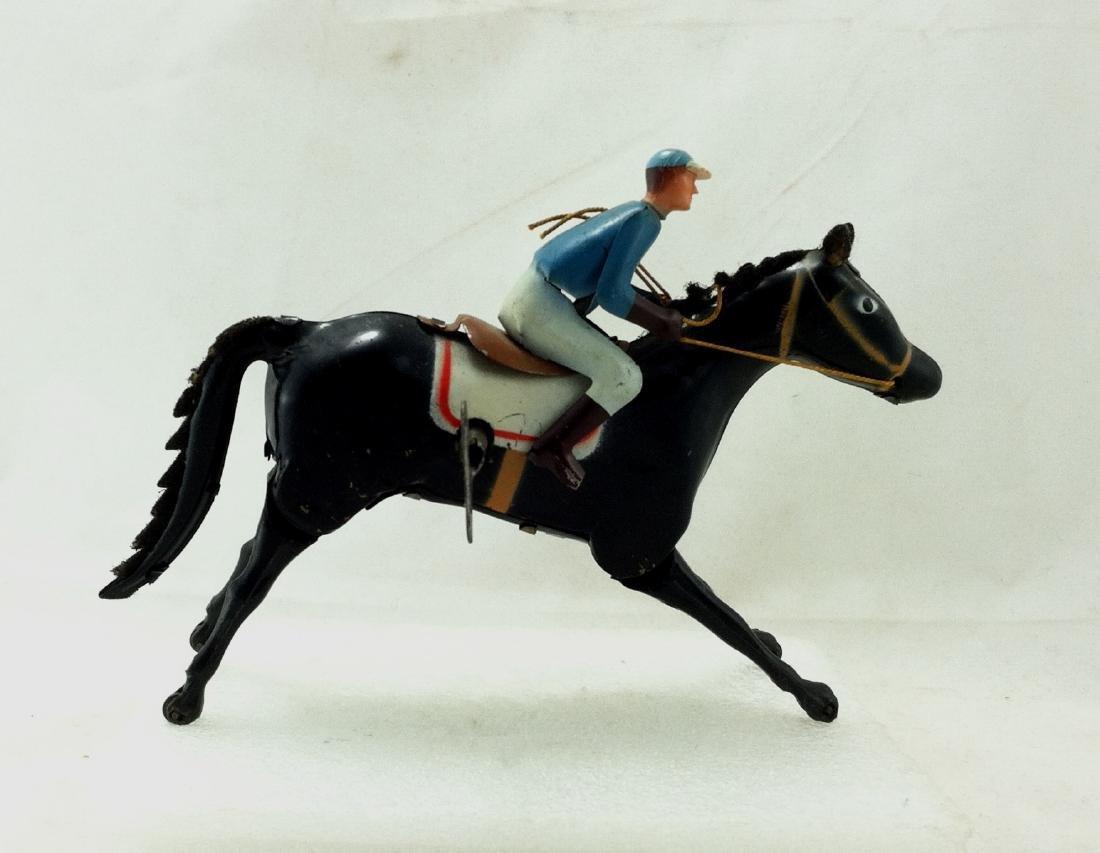 Wind up Toy. Horse & Jockey