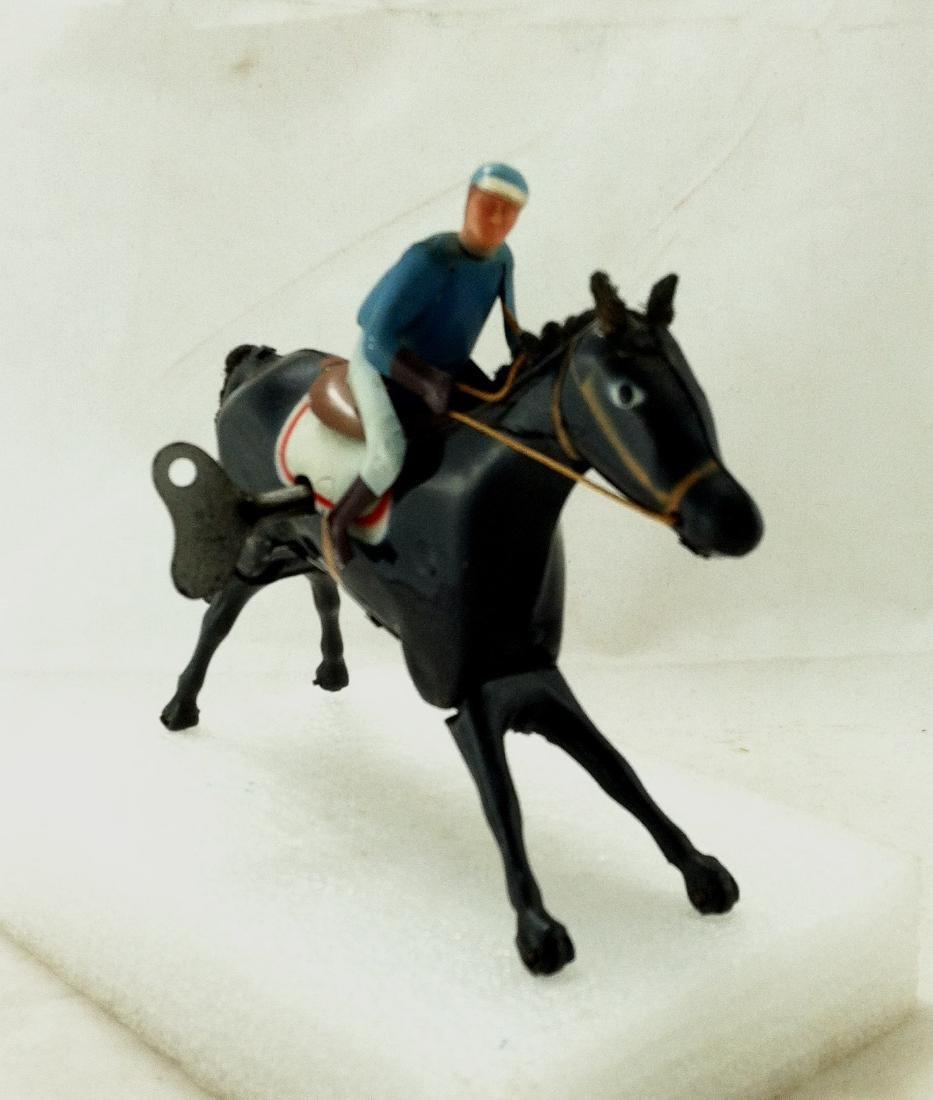 Wind up Toy. Horse & Jockey - 2