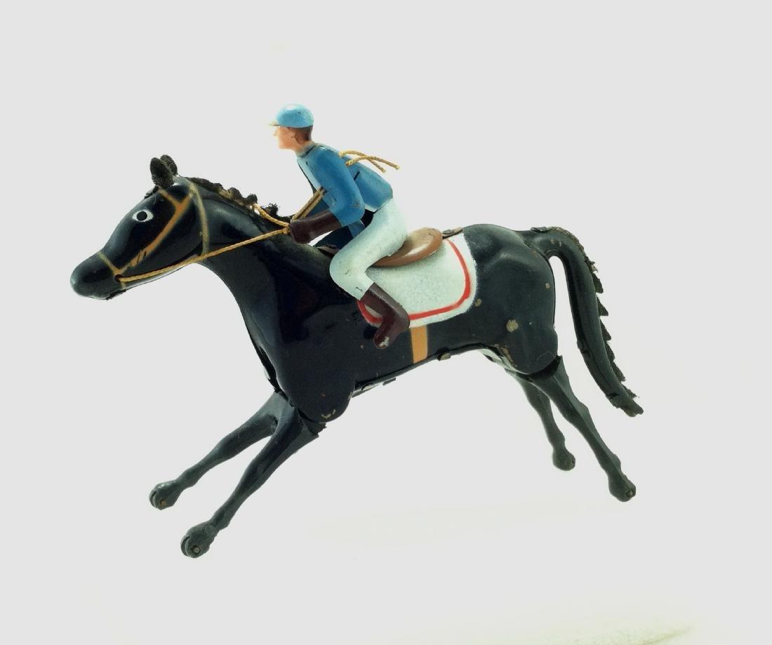 Wind up Toy. Horse & Jockey - 4