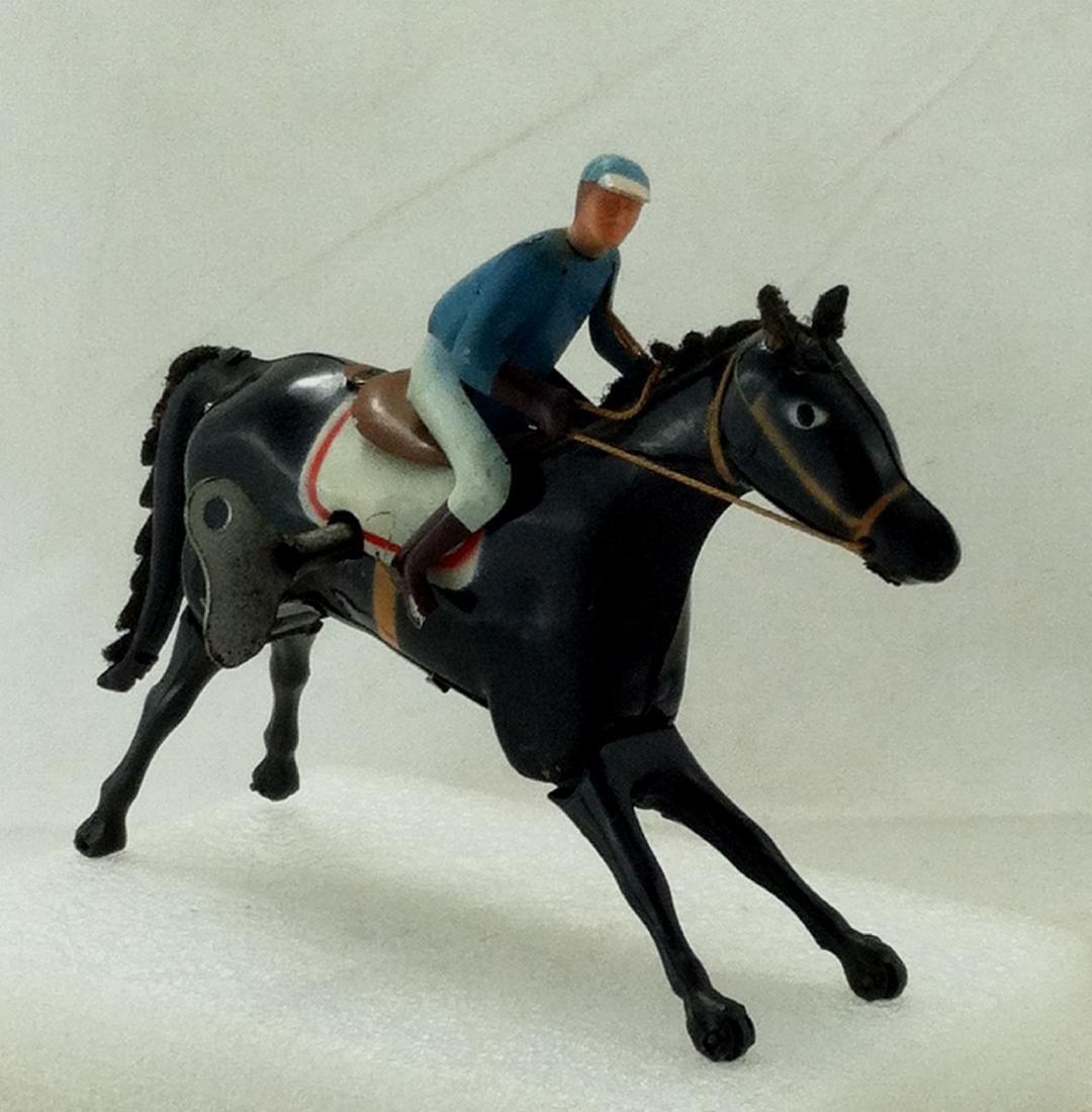 Wind up Toy. Horse & Jockey - 6