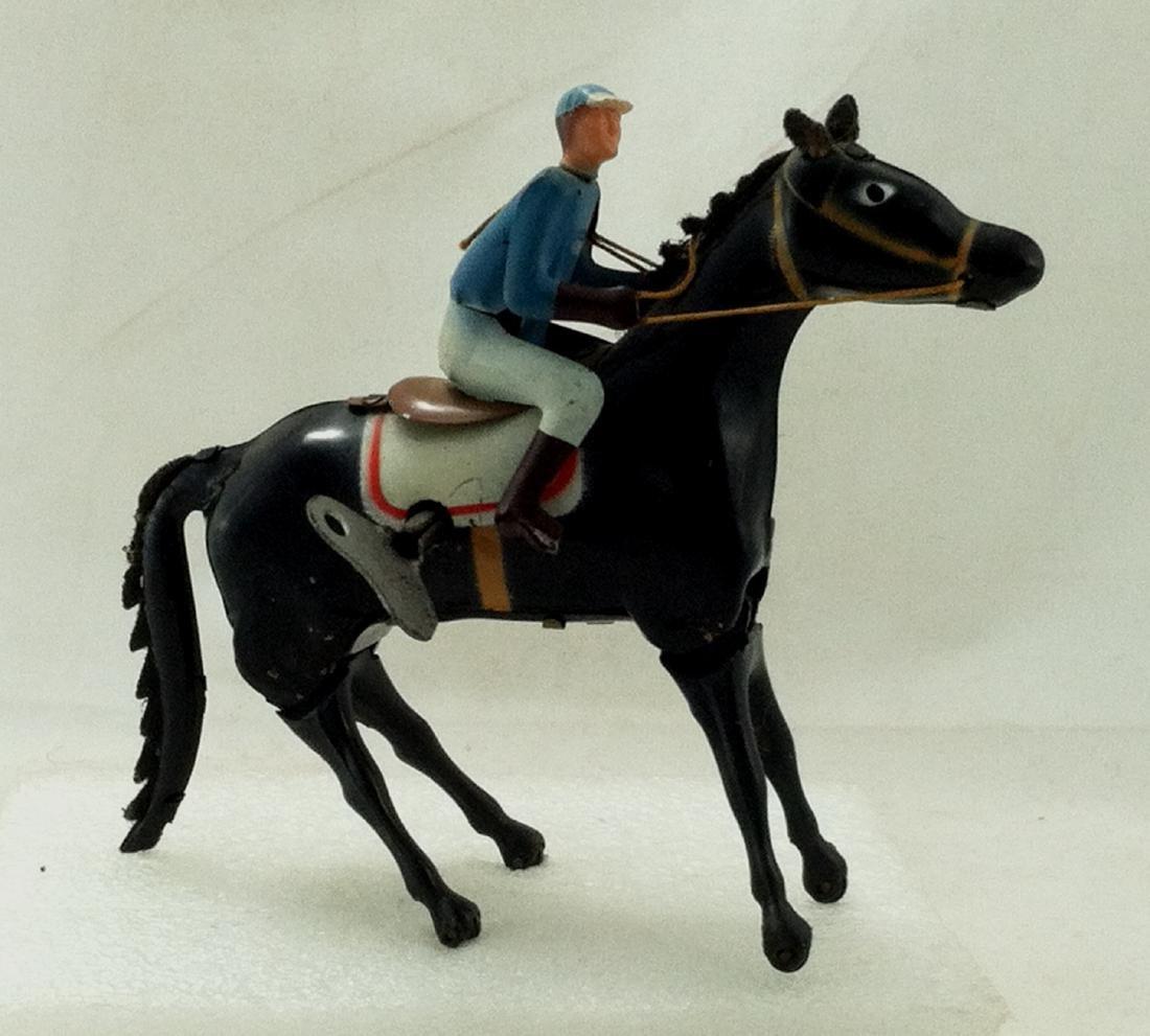 Wind up Toy. Horse & Jockey - 9