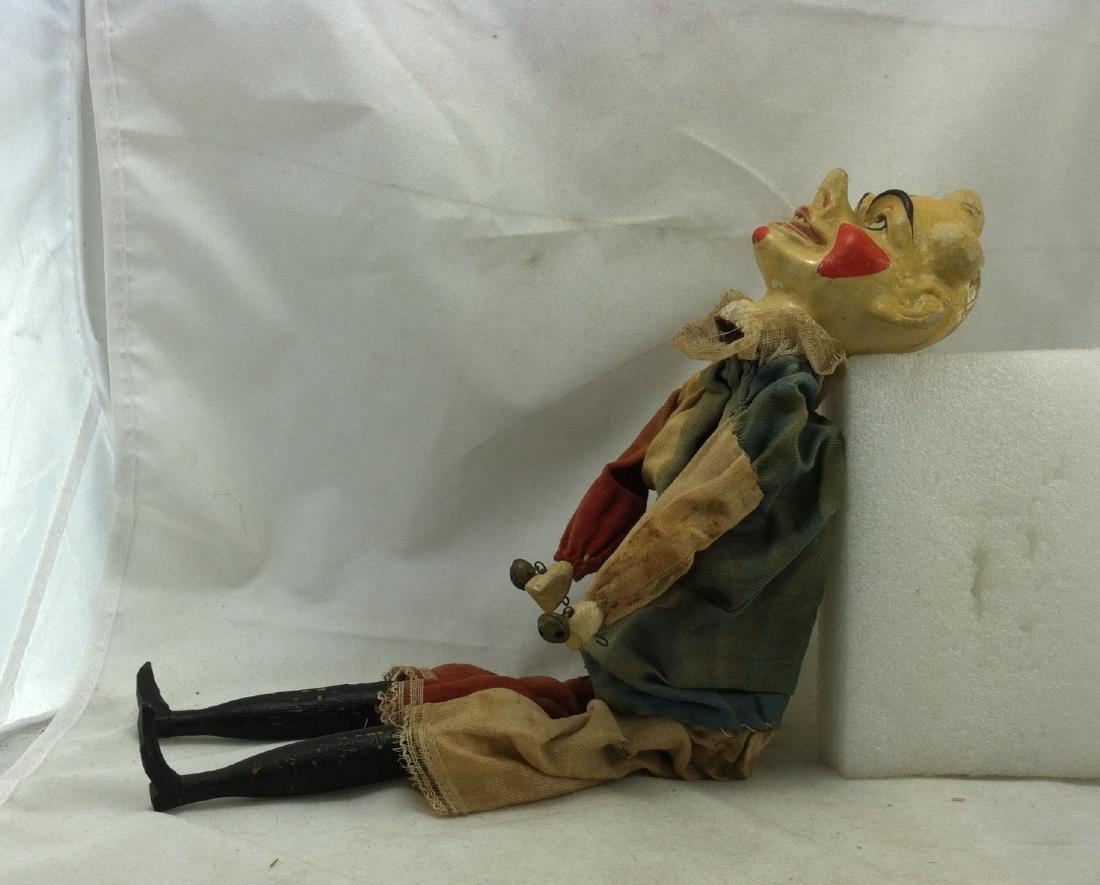 Antique Clown Marionette - 10