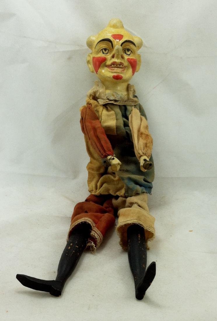 Antique Clown Marionette
