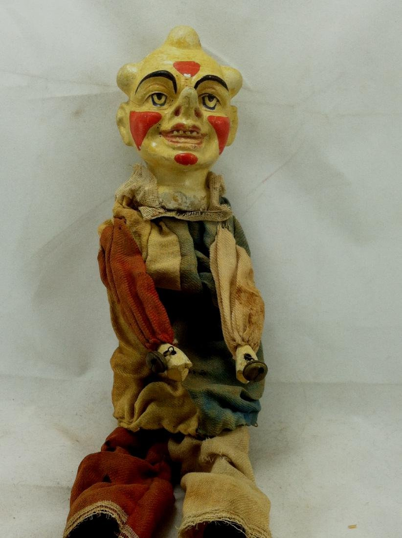Antique Clown Marionette - 3