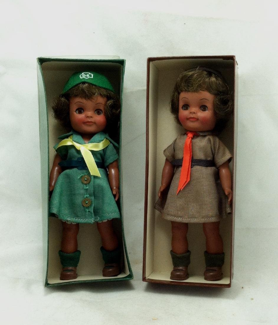 2 MIB Effanbee Scout Dolls Girl & Brownie