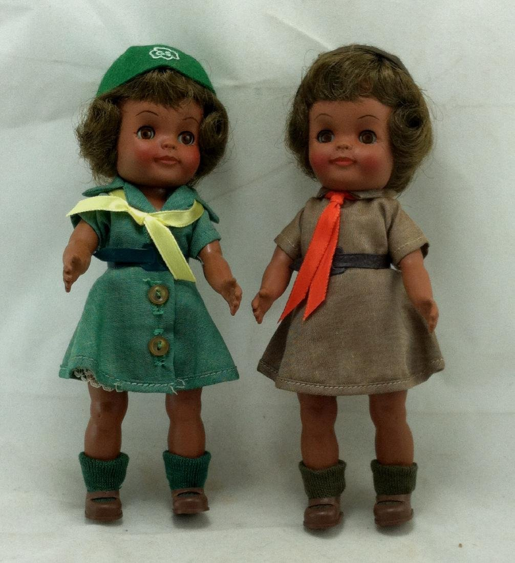 2 MIB Effanbee Scout Dolls Girl & Brownie - 2