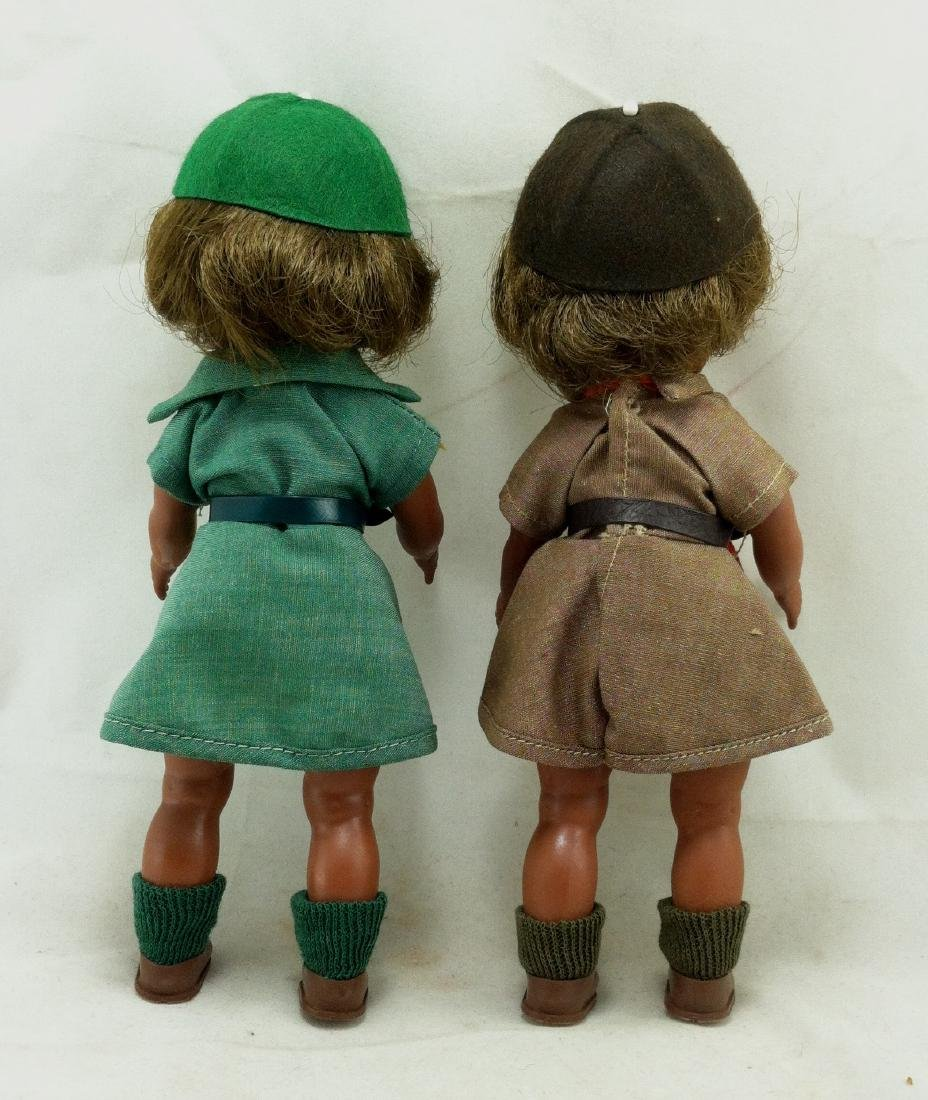 2 MIB Effanbee Scout Dolls Girl & Brownie - 5