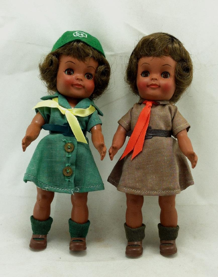 2 MIB Effanbee Scout Dolls Girl & Brownie - 6