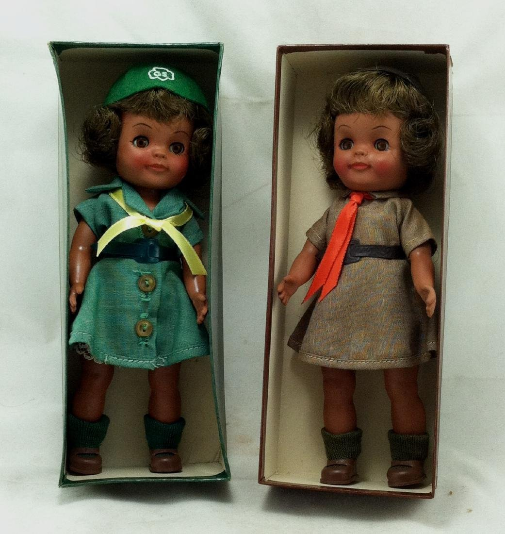 2 MIB Effanbee Scout Dolls Girl & Brownie - 8